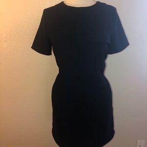 Size M Forever 21 dress. Dark blue office dress